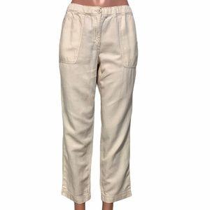 J. Crew Linen / Cotton Blend Ankle Pants